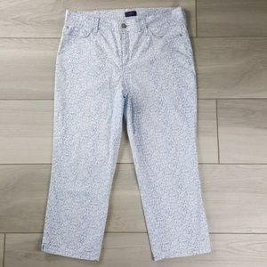 Not Your Daughters Jeans Blue Printed Capri Pants